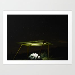 Camp Vibes. Monahans Sandhills, Texas Art Print