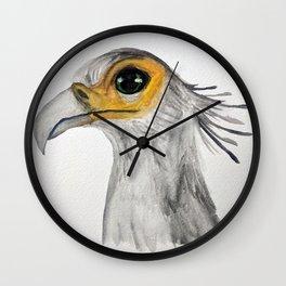 Secretary Bird Watercolour Wall Clock