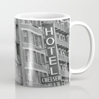 chelsea Mugs featuring Chelsea Hotel by Maria Karas