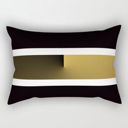 Team Colors 3....Gold, black white Rectangular Pillow