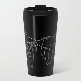 Black Pinky Swear Travel Mug