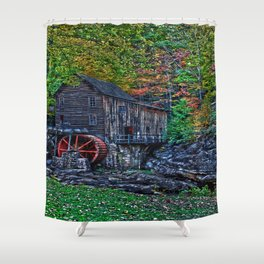 Old Grist Mill Babcock State Park WV Shower Curtain