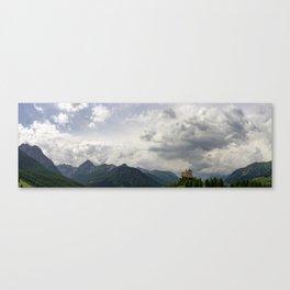 Tarasp Panorama Canvas Print