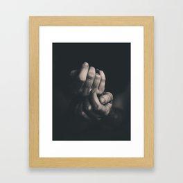Hands, Black and white Framed Art Print