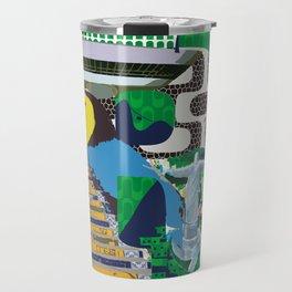 Mews in Rio de Janeiro (Typography) Travel Mug