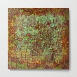 Textured Bark Metal Print