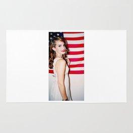 Lana Del Ray American Flag Rug