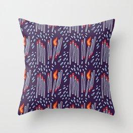 matches vs splashes Throw Pillow