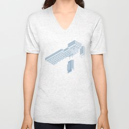 Isometric Council Chambers Unisex V-Neck