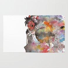 Rainbow Princess Mononoke Rug