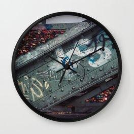 Koln: Love Locks & Graffiti Wall Clock