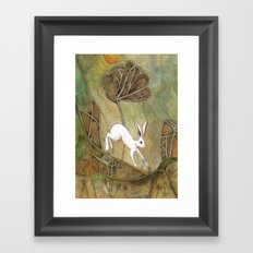 Hare with Standing Stones Framed Art Print