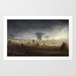 1920 - in the middle of the storm Art Print