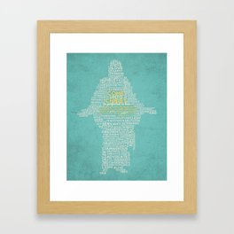 """Teal """"Come Unto Christ"""" 2014 LDS Mutual Theme Framed Art Print"""