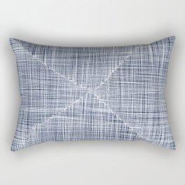 Ink Weaves: Sapphire Rectangular Pillow