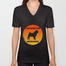 pug dog for people who like pug dogs  Unisex V-Neck
