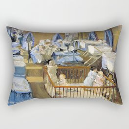 Sir John Lavery - Lady Henry's Creche, Woolwich - Digital Remastered Edition Rectangular Pillow