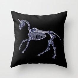 Unicorn Fossil Throw Pillow