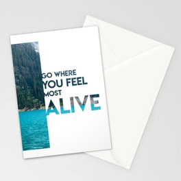Go Feel Alive Stationery Cards