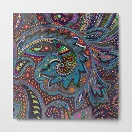 Magic Paisley Pattern Metal Print