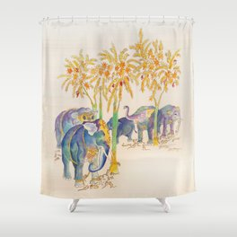 Elephants & Mice Shower Curtain