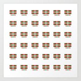 Flag of Euskal Herria 7-Basque,Pays basque,Vasconia,pais vasco,Bayonne,Dax,Navarre,Bilbao,Pelote,spa Art Print