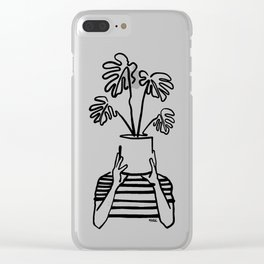 Mood plants Clear iPhone Case