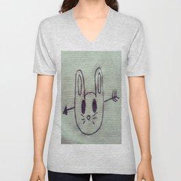 Sad Bunny Unisex V-Neck