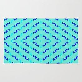 1508 Metallic waves pattern Rug