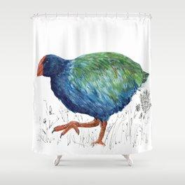 Takahe, flightless bird of New Zealand Shower Curtain