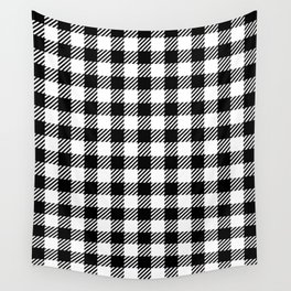 Black & White Vichy Wall Tapestry