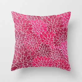 Floral Abstract 19 Throw Pillow