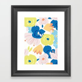 Painterly Blooms Framed Art Print