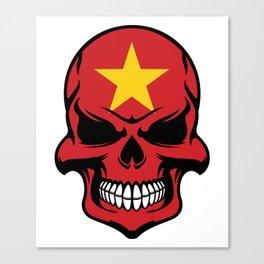 Vietnamese Flag Skull Canvas Print