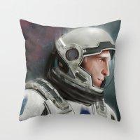 interstellar Throw Pillows featuring Interstellar by San Fernandez
