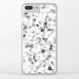 many small colored squares shaded superimposed Clear iPhone Case