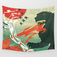 tokyo Wall Tapestries featuring Tokyo or Bust by Alex Craig
