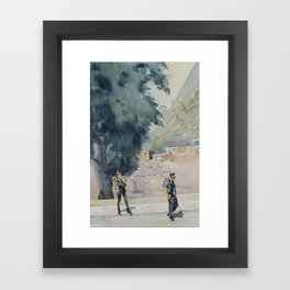 By the Ancient Walls of Jerusalem Framed Art Print