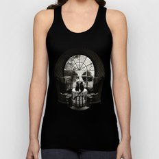 Room Skull B&W Unisex Tank Top