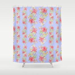 tropical hawaiian flowers periwinkle Shower Curtain