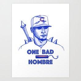 Javier Baez: One Bad Hombre Art Print