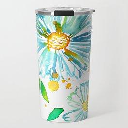 Lakeside Watercolour Blue Daisies Travel Mug