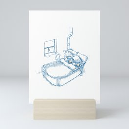 Cup O' Coffee NYC Style_sardines Mini Art Print