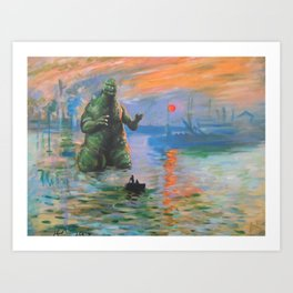 Impression Kaiju Art Print
