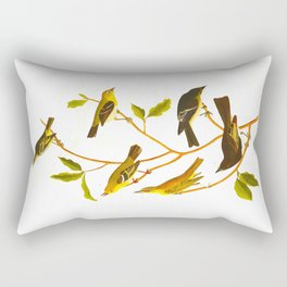 Little Tyrant Flycatcher, Small-headed Flycatcher, Blue Mountain Warbler, Bartram's Vireo, Short-leg Rectangular Pillow