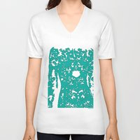 lace V-neck T-shirts featuring Lace by Magno Roi*