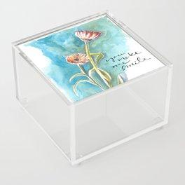 You Make Me Smile Acrylic Box