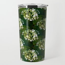 Hills-of-snow hydrangea pattern Travel Mug