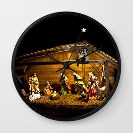 Nativity Wall Clock
