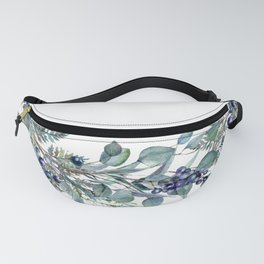 Watercolor Foliage Wreath Fanny Pack